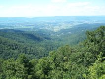 From the Mountains on high. View from one of the many mountains along the Blue Ridge Parkway Royalty Free Stock Photo