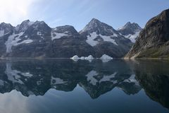 Mountains in the high arctic. (Greenland Royalty Free Stock Photography