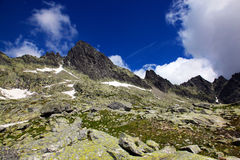 Mountains. High Tatras and the view from the top Royalty Free Stock Images