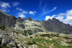 Mountains. High Tatras and the view from the top Stock Photography