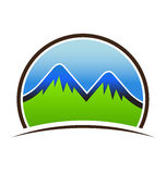 Mountains High Logo Stock Photography