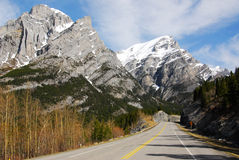 Mountains and highway Royalty Free Stock Photography