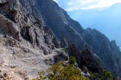 Mountains hike in Liechenstein Stock Image