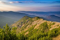 Mountains between hillocks defile. Tatra mountains, Poland Royalty Free Stock Image