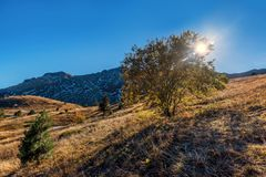 Mountains and hills  in the autumn in Bosnia and Herzegovina Stock Photos