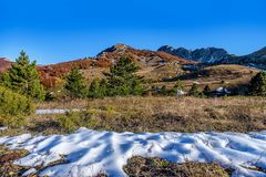 Mountains and hills  in the autumn in Bosnia and Herzegovina Stock Photo