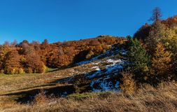 Mountains and hills  in the autumn in Bosnia and Herzegovina Stock Photography