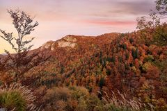 Mountains and hills  in the autumn in Bosnia and Herzegovina Stock Images