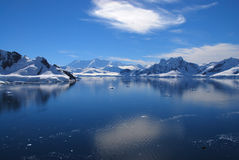 Antarctic Mountains and Reflections Royalty Free Stock Image