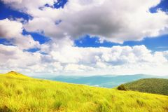 Mountains hills landscape Bieszczady Poland Stock Photography