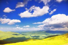 Mountains hills landscape Bieszczady Poland royalty free stock photos