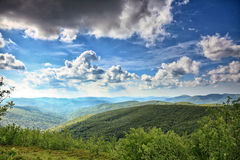 Mountains hills landscape Bieszczady Poland Royalty Free Stock Photo