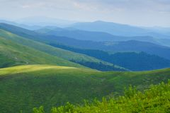Mountains and hills panoramic. Royalty Free Stock Photo