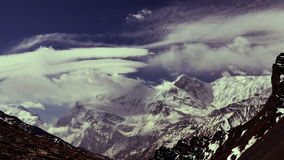 Mountains in Himalaya. Time-lapse. stock video footage