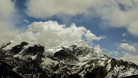 Mountains in Himalaya. Time-lapse. Time-lapse. Wind and clouds in Himalayas stock video