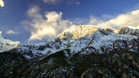 Mountains in Himalaya. Time-lapse. stock footage