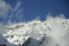 The mountains of the Himalayas. The snowy peaks of the Himalayas Royalty Free Stock Images