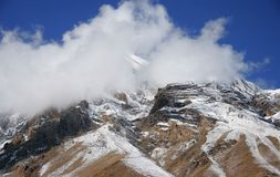 The mountains of the Himalayas. The snowy peaks of the Himalayas Royalty Free Stock Photo