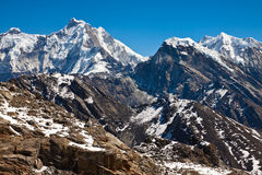 Mountains in Himalayas in a sunny day Stock Photography