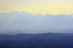 Mountains on horizon Royalty Free Stock Photography
