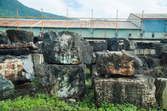 Mountains of Hualien jade stone Stock Photo
