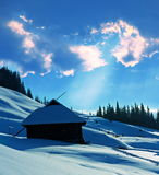 Mountains hut Royalty Free Stock Image