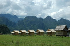 Mountains huts Royalty Free Stock Photography