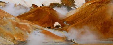 Hveradalir geothermal park, Kerlingarfjoll, Iceland stock photo