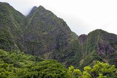 Mountains Iao Valley Maui. A view of the mountains taken from Iao Valley in Maui, HI stock photography