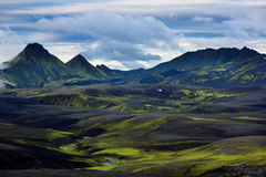 Mountains in Iceland Stock Image