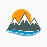 Mountains icon vector Stock Image