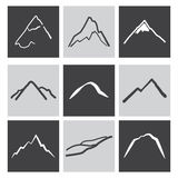 Mountains icons Royalty Free Stock Image