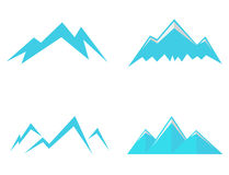Mountains Icons Stock Image