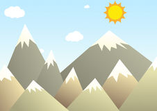 Mountains illustration Royalty Free Stock Image