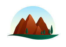 Mountains illustration Royalty Free Stock Photography
