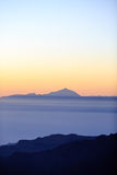 Mountains inspirational sunset landscape, Pico del Teide Stock Photography