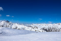 Mountains in ischgl Stock Photo