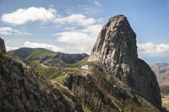 Mountains of the island Gomera Royalty Free Stock Photography