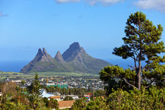 Mountains on the island of Mauritius Stock Photography