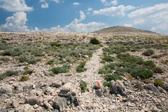 Mountains on the island of Pag Royalty Free Stock Photos