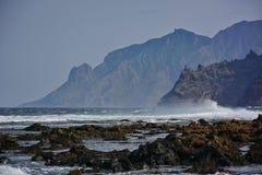 Mountains island shore Stock Image