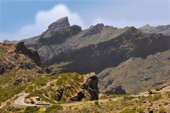 Mountains in the island of Tenerife Stock Photography
