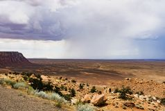 Mountains and isolated summer rain scenic view, Marble Canyon Hwy 89 Stock Images