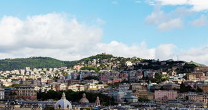 Mountains of the Italian city of Genoa time lapse stock video footage