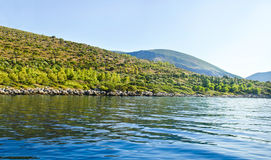 Mountains at Ithaca island Greece Stock Photography