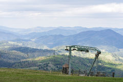 The mountains. Ivano-Frankivsk Carpathian Mountains. May landscape Stock Images
