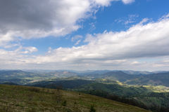 The mountains. Ivano-Frankivsk Carpathian Mountains. May landscape Stock Photos