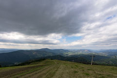 The mountains. Ivano-Frankivsk Carpathian Mountains. May landscape Stock Photography