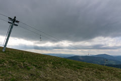 The mountains. Ivano-Frankivsk Carpathian Mountains. May landscape Royalty Free Stock Photo