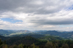 The mountains. Ivano-Frankivsk Carpathian Mountains. May landscape Royalty Free Stock Photography